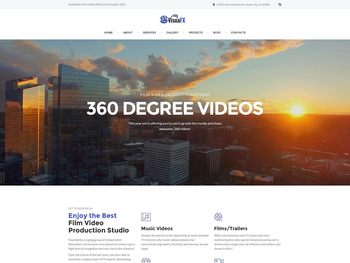 Image result for VisualFX - Film Video Production Studio Responsive WordPress Theme