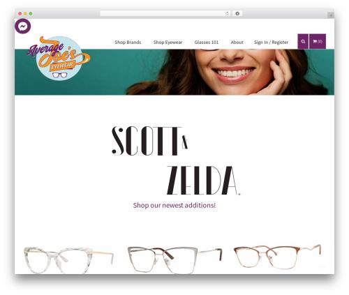 WordPress theme (a)n Foundation - averagejoeseyewear.com