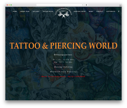 WordPress theme TattoPro - tattooundpiercing.com
