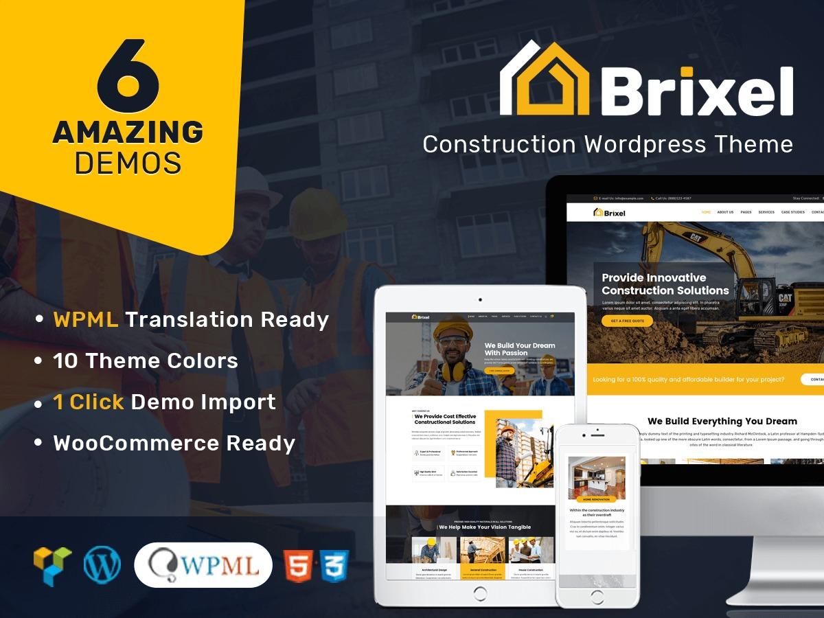 Brixel WordPress template for business