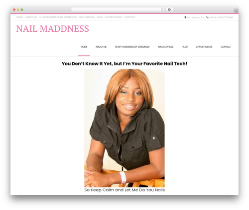 Conica WordPress theme design - nailmaddness.com