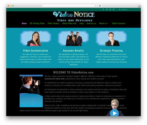 Divi WordPress movie theme - videonotice.com