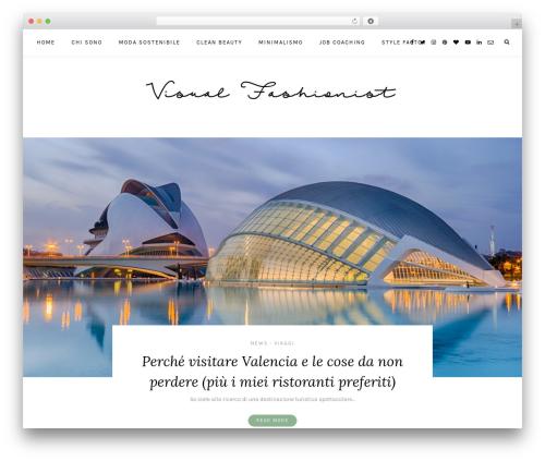 Laurel WordPress blog theme - visualfashionist.com