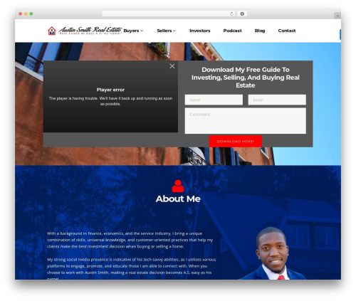 Pitch real estate WordPress theme - austinsmithrealestate.com