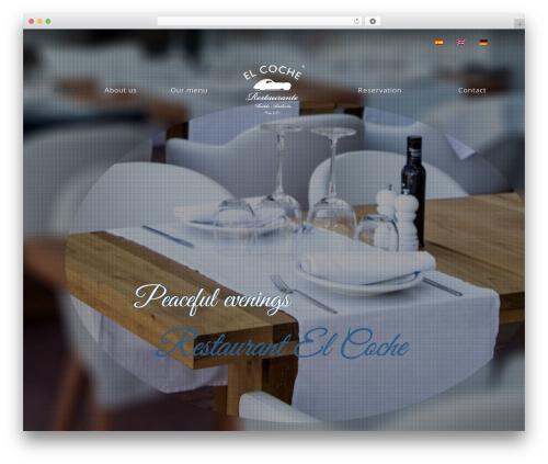 Risotto best restaurant WordPress theme - restaurantecoche.com