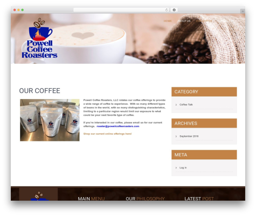 SKT Coffee free website theme - powellcoffeeroasters.com