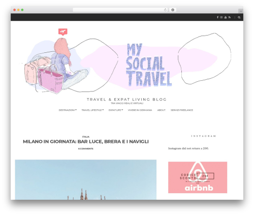 Spencer WordPress blog template - my-socialtravel.com