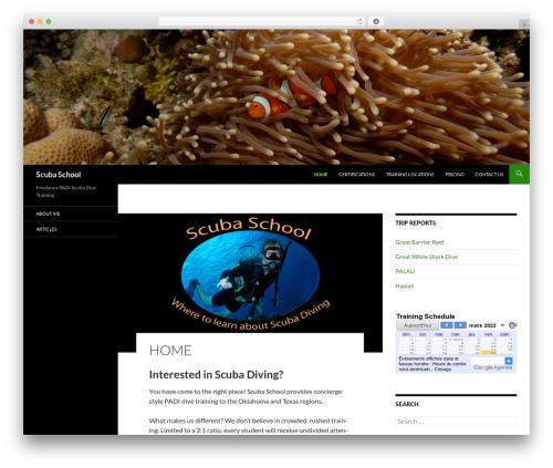 Twenty Fourteen free website theme - scubaschool.com
