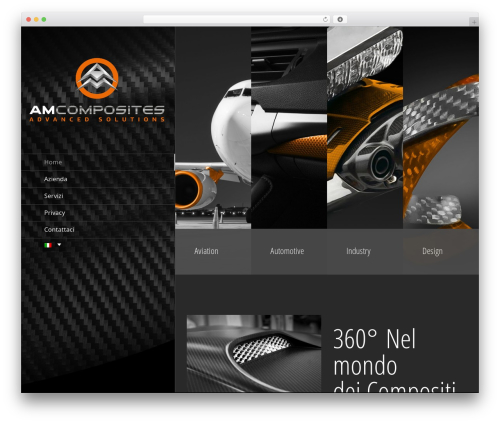 Avada WordPress page template - amcomposites.com