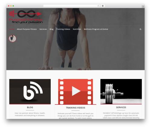 Best WordPress theme FitClub Pro - thepurposefitness.com