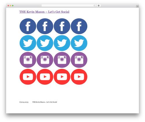 BLANK Theme WordPress theme - thekevinmason.com