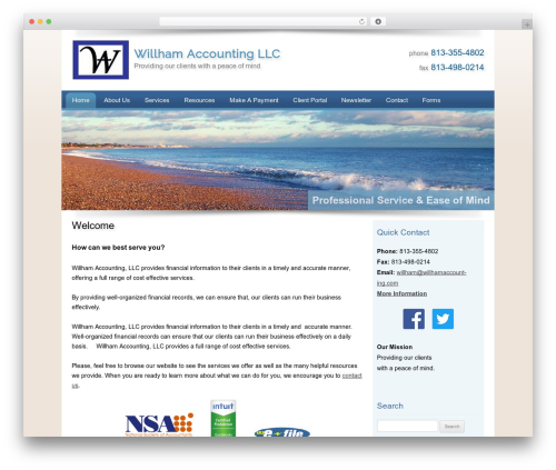 Customized WordPress theme - willhamaccounting.com