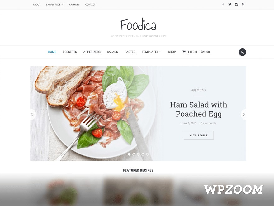 Foodica Child Theme food WordPress theme