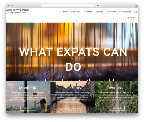 Safreen Pro WordPress theme - whatexpatscando.com