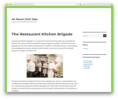 Twenty Sixteen WordPress theme - sdchefsdecuisine.com