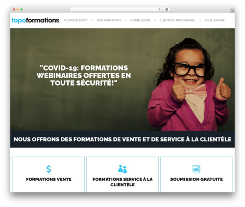 WordPress theme Inspirado - topoformations.com