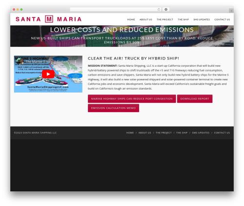 WordPress website template Catalyst - santamariashippingllc.com