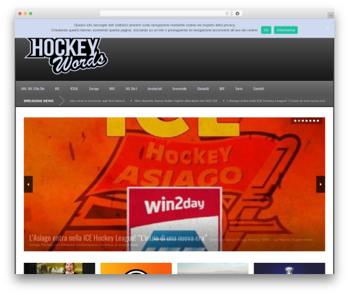 WordPress website template World Wide - hockeywords.com