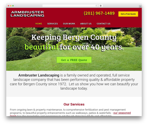 Worker garden WordPress theme - armbrusterlandscaping.com