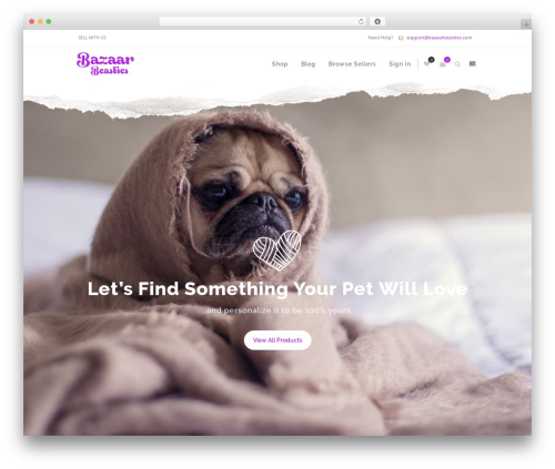 Zass WordPress theme - bazaarbeasties.com