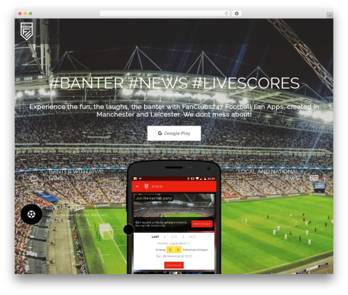 Applay template WordPress - fanclubs247.com