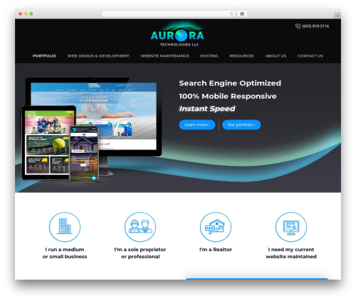 Aurora Tech WP template - goauroratech.com