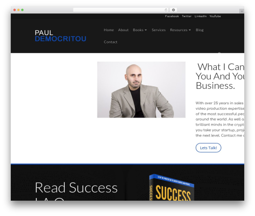 Divi WordPress theme - pauldemocritou.com