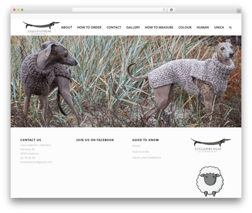 Enfold WordPress theme - doggiknitwear.com