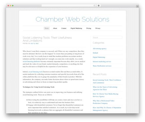 Forever WordPress theme design - chamberwebsolutions.com
