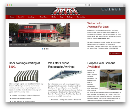 Impacto business WordPress theme - awningsforless.com
