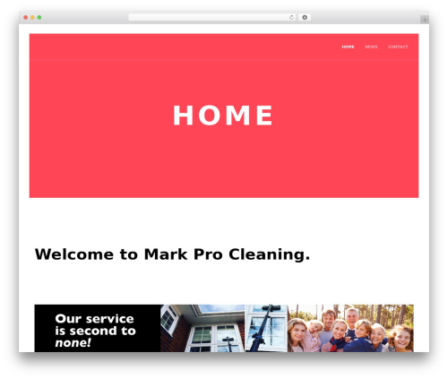 Marquez theme WordPress - markprocleaning.com