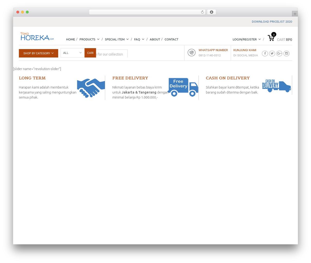 Mindig WP template - tokohoreka.com
