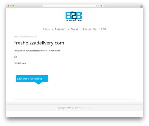 Minus WordPress pizza theme - freshpizzadelivery.com