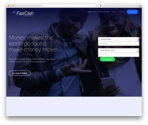 Modular WordPress theme design - fastcashafrica.com