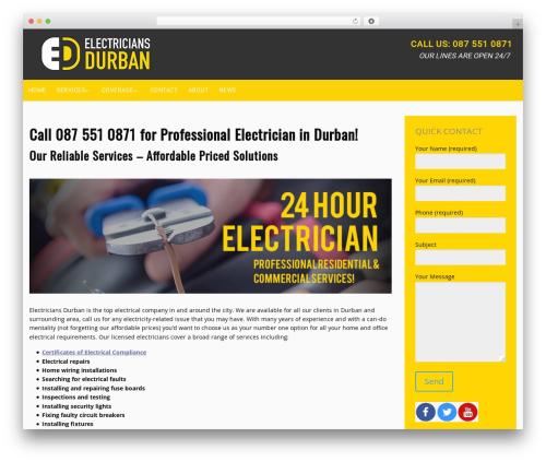 Promote WordPress template - electriciansdurban.com