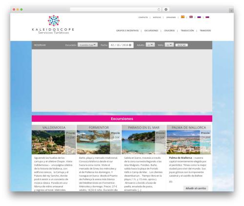 Theme WordPress Kaleidoscope - kaleidoscopemallorca.com