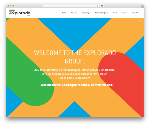WordPress template Jupiter - explorado-group.com