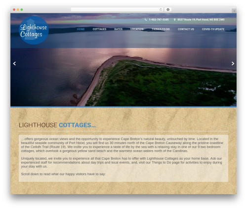 WordPress theme Coffee Pro - lighthouse-cottages.com