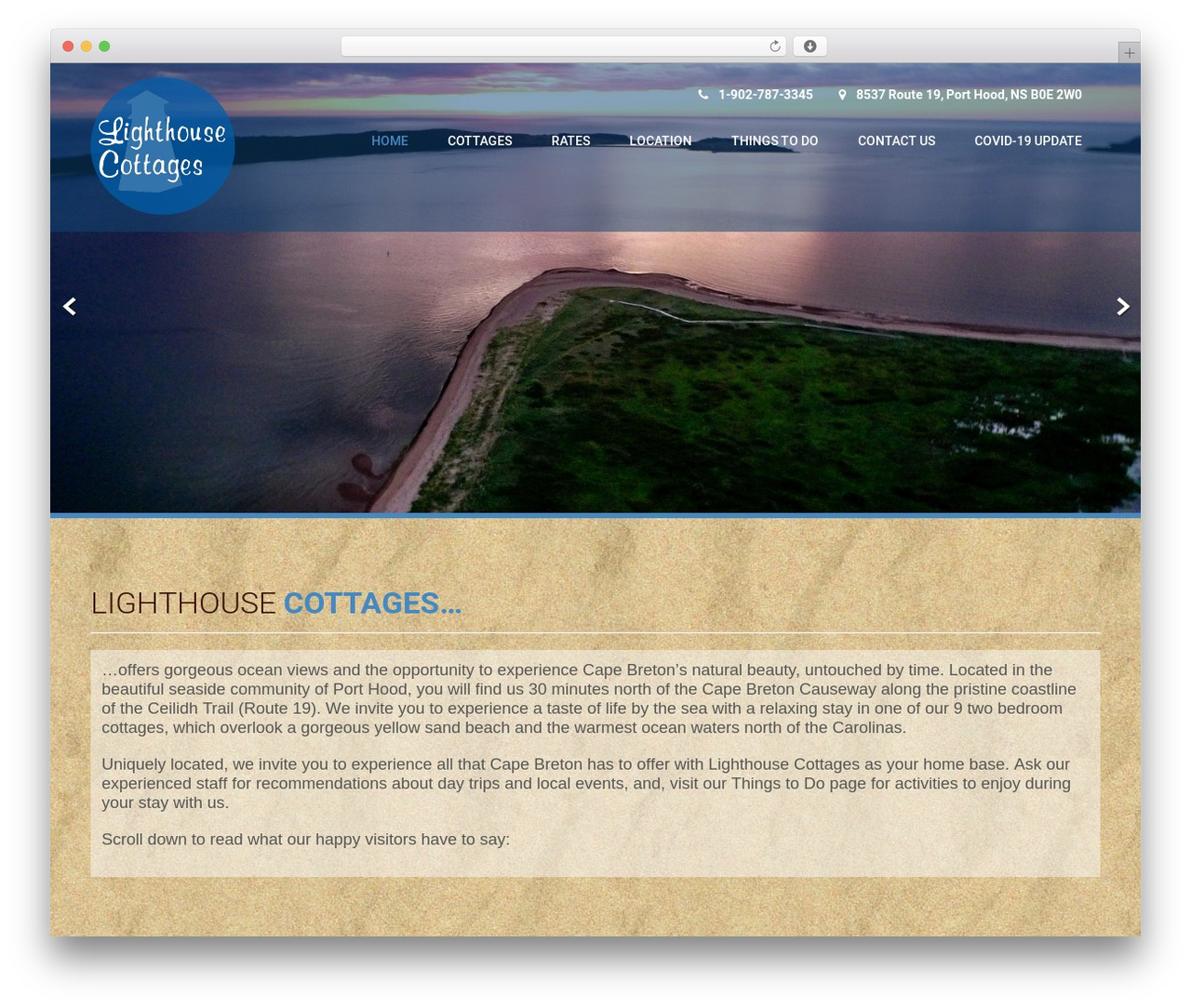 WordPress theme Coffee Pro - lighthouse-cottages.com