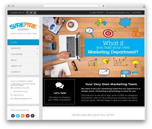 WP Bullet WordPress theme - surefiregraphics.com