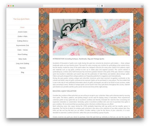 Avada WordPress theme design - thecozyquiltpatch.com