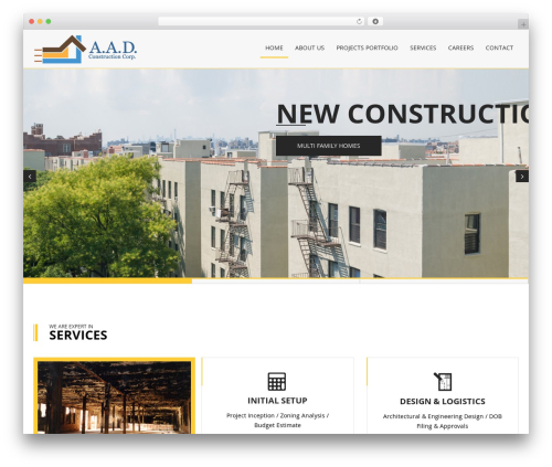 Constructioner template WordPress - aadconstructioncorp.com