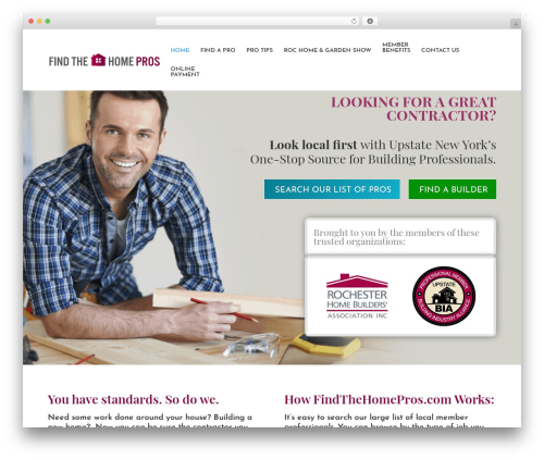 Divi WordPress website template - findthehomepros.com