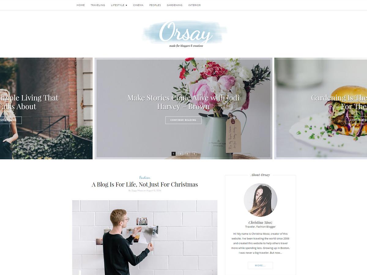 Orsay_child WordPress blog theme