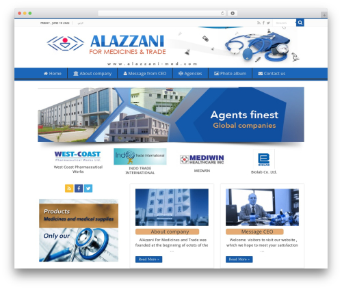 Sahifa (shared on wplocker.com) template WordPress - alazzani-med.com