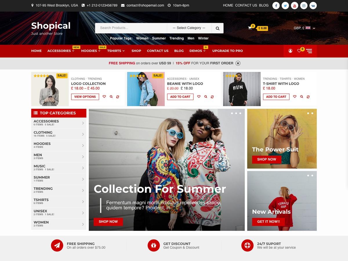 Shopical WordPress shop theme