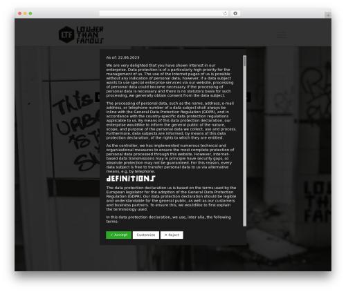 Sonik WordPress theme - louder-than-famous.com