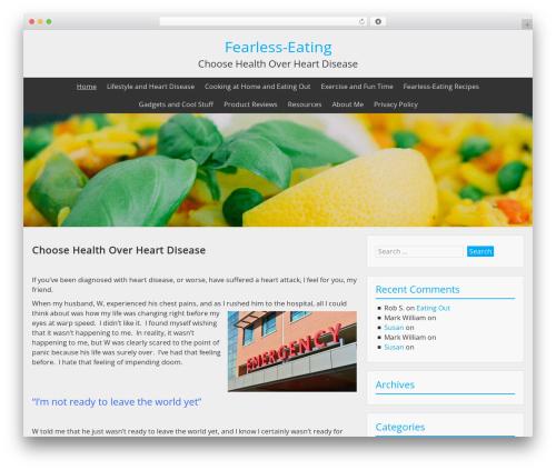Theme WordPress BlueGray - fearless-eating.com