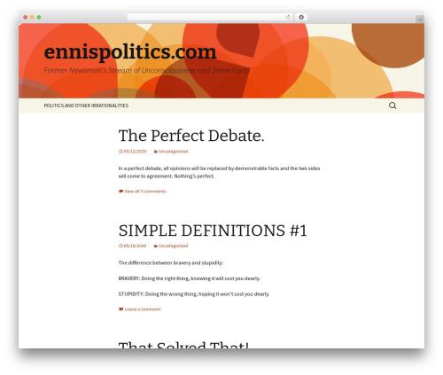 Twenty Thirteen WordPress news theme - ennispolitics.com