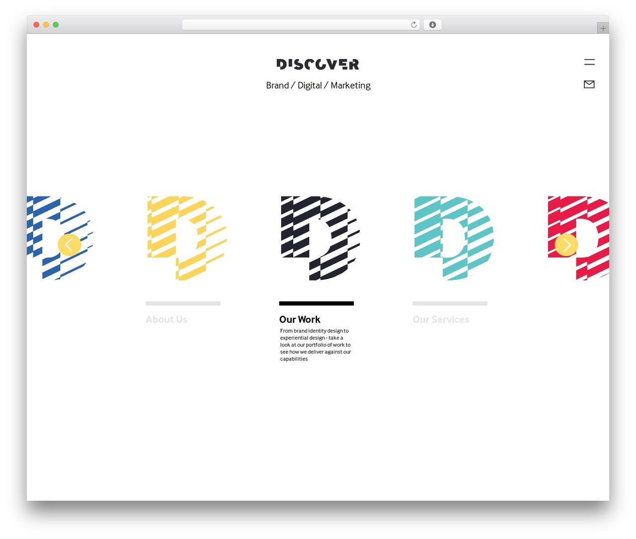 WordPress theme Discover Brand Creation - discoverbrandcreation.com